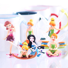 3 lot/set Tinkerbell Dolls Flying Flower Fairy Children Animation Cartoon Baby Toy 6pcs Christmas Birthday Gifts