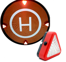 Drone Landing Parking Apron LED Light Indicator Auxiliary Lamp for UAV Portable Outdoor Emergency Lamps 12000MCD 24 Red 15 White(China)