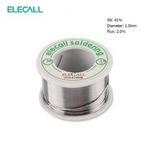 ELECALL New Arrival 41SN Pure Tin 1.0mm 75g Rosin Core Tin/Lead Rosin Roll Flux Reel Lead Melt Core Soldering Tin Solder Wire(China)