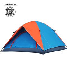 3-4 People Double Layer Camping Tent Ultralight Outdoor Tourist Trekking Family Hiking Climbing Barraca Carpas Beach Tente