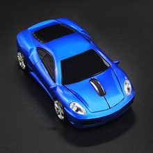 2016 Gifts for Kids Ultra-realistic Blue Car Model Mouse Portable Mini 2.4GHz Wireless Optical Desktop Mice for Computer