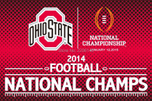 Ohio State Buckeyes 2014 Football Championship Flag NCAA Flag hot sell goods 3X5FT 150X90CM Banner brass metal holes