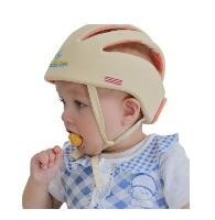 2016 Baby Safety Helmets Training Cotton Infant Protective Hat Training dark yellow