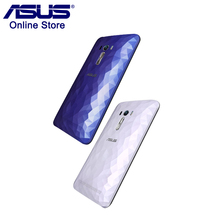 Original Phone Case ASUS Zenfone Selfie ZD551KL Crystal Diamond-Shaped Back Battery Cover Case Housing Replacement Without NFC