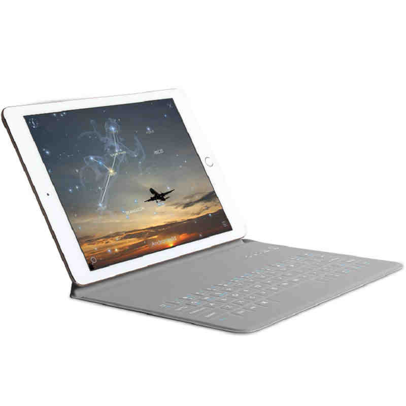 Ultra-thin Bluetooth Keyboard Case For 9.7 inch iPad 2017  tablet pc for new iPad 2017 keyboard case cover<br>