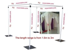 Wedding square canopy/chuppah/arbor drape stand wedding decoration ,wedding square pipe,wedding backdrop stand(China)