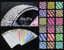 750Pcs Car Auto Interior Exterior Sticker Wall Sticker DIY Bling Crystal Design Rhinestone 3mm silver free shipping