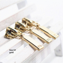 5# Wholesale 10pcs Zipper gold Metal Zipper Pulls zipper Head For Handbag/ Backpack/Clothing/Sewing Tailor Tools t9