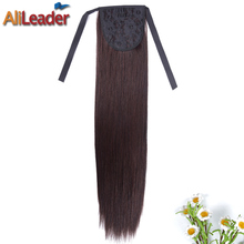 AliLeader Products Ombre Pony Tail Hair Extensions 50CM 80G Long Straight Syntheitc Clip In Hair Extension Ponytail Hairpieces(China)