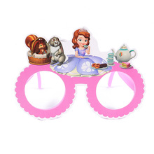 Sofia party favors kids glassess plastic character party supplies celebration holiday party decoration boys and girls gifts(China)