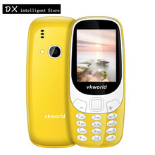 In Stock VKworld Z3310 Elder CellPhone 2.4 Inch 3D Water Drop Loud Speaker FM Radio Strong Flashlight Dual Sim Mobile Cell Phone