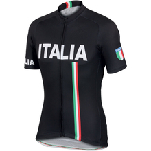 2016 summer pro team Ropa Ciclismo Bicycle maillot Sportful Italy IT Black short Sleeve Cycling Jersey And Breathable quick dry(China)