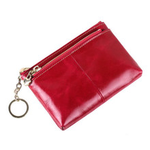red small wallet women mini purse key holder genuine leather womens wallets and purses christmas birthday gifts for kids bag