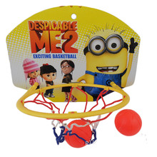 Cartoon Wall Mounted Mini Basketball Hoop for Kids Basquete Net Back Board with Ball and Needle Pump Children Toy Random Color