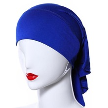 20 Colors Muslim Women Soft Comfort Inner Hijab Caps Islamic Under scarf Hats(China)