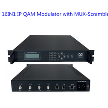 16in1 IP QAM Modulator with MUX- Scrambler(gigabit 64*IP in, 16*DVB-C RF out) Modulator Radio & TV Equipment SC-4124(China)