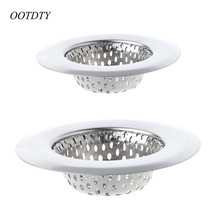 OOTDTY Modern Simple Design House Kitchen Stainless Steel Sink Drain Filter Sewer Colanders Filters Kitchen Accessory Hair(China)