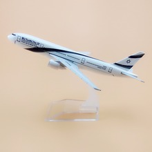 16cm Alloy Metal Air El Al Israel Airlines Boeing 777 B777 Airways Airplane Model Plane Model W Stand Aircraft Gift(China)