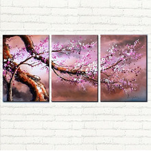 Modern home art Cherry Blossom painting art, floral cnavas oil  painting large size handpainted