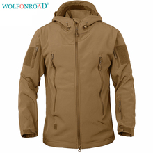 WOLFONROAD Softshell Men Jacket Waterproof Hiking Jacket Coat Tactical Jacket Camouflage Hunting Jackets Outdoor Sport Clothing