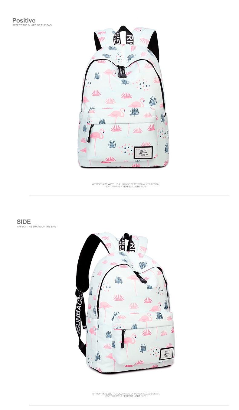 WINNER Fashion Backpack Flamingos Cute School Bags For Adolescent Girls Travel Rucksacks Laptop Mochilas Mujer 2018 (3)