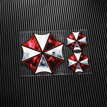 TD001Resident Evil Umbrella Corporation Reflective Car Sticker Decals Motorcycle Racing Stickers Motorbike Helmet Windshield ATV