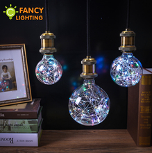 Holiday lights rgb led bulb christmas string light indoor e27 fairy light 110v 220v edison decorative lamp navidad FANCYLIGHTING(China)