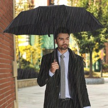High Quality Full Automatic Travel Umbrella One-Handed Operation Auto Open/Close Button System Windproof Rustproof Umbrella