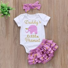 Newborn Infant Baby Girls Clothes Romper Jumpsuit Top +Icing Shorts +Headband Short Sleeve Dot Clothing Set(China)