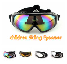 Hot Saleing! New Winter Protective Kids Ski Goggles Children Snow Eyewear Ski Sunglasses Snowboard Glasses With Case