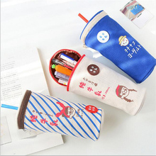 Kawaii Pencil Case Milk Tea Cup Canvas Creativity Large Big Capacity Cute Pencil Box Pencil Bag Stationery School Kids Gift(China)