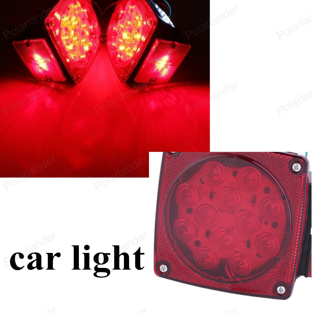 HOT!! Car 12V 1pairs high quality waterproof square red taillights car fog lights Safety LEDS light 2 pics auto Lamp Top-Rated <br><br>Aliexpress