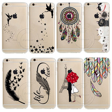 For Apple iPhone 4 4S 5 5S 5C SE 6 6S 7 Plus Dream Catcher Tinker Bell Tower Design Soft TPU Silicone Case Cover Capa Coque