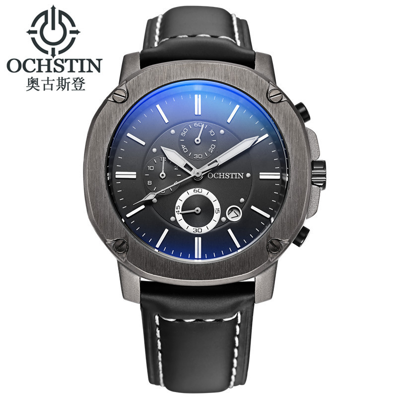 OCHSTIN Mens Watches Top Brand Luxury 6 hand Function Chronograph Watch Military Mens Business Quartz Wrist Watch Montre Homme<br>