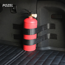 Black Roll Bar Fire Extinguisher Holder Car Styling For Renault sceni c1 2 c3 modus Duster Logan Sandero CLIO