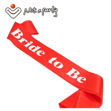 12pcs of Red wedding event mariage sash white printing favor hens party event supplies bachelorette fun party bride to be gift(China)