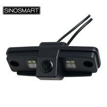 SINOSMART In Stock HD Car Rearview Parking Reverse Camera for Toyota Prado Install in License Plate Light Hole with LED(China)