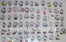 M1 Wholesale 100Pcs Mix Assorted various Hello Kitty Charms Fit Chains(China)