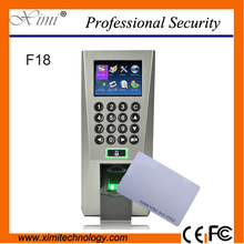 F18 biometric fingerprint access control tcp/ip time attendance zk access controller F18/ID