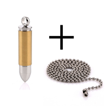 Unique Jewelry Stainless Steel Ball Chain Bullet Pendant