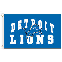 luxurious design 3x5 detroit lions Arch blue flag banner with gromments(China)