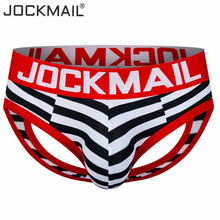 Buy JOCKMAIL Brand open back men underwear briefs sexy tanga hombre jockstrap sissy men thong cueca gay underwear Backless Buttocks