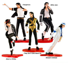 MJ Michael Jackson PVC Figure Collection Model Toy 12cm 5pcs/set(China)