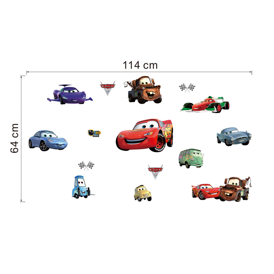 HTB147asXXkoBKNjSZFEq6zrEVXaT - Super Cars McQueen Wall Decoration Sticker For Boys Kid Rooms-Free Shipping