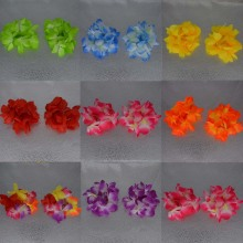 50PAIR /LOT HAWAIIAN FLOWER HULA LEI WRISTBAND FLOWER BRACELET PARTY SUPPLIES WEDDING New Year(China)