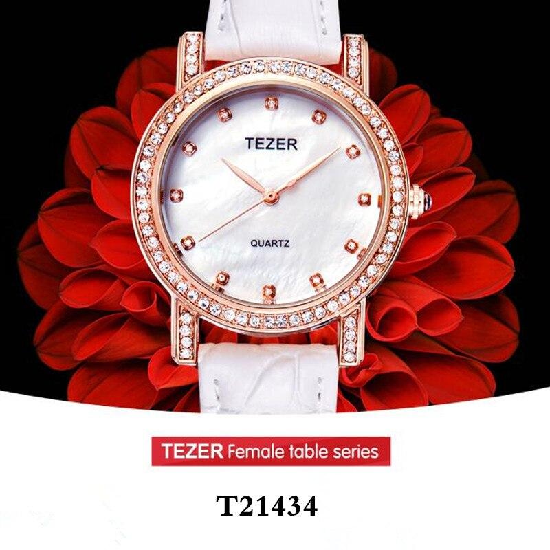 TEZER Watches Women Rhinestone Quartz Watch Reloj Mujer Brand Luxury Crystal Watch Women Fashion Dress Quartz Wristwatches C85<br><br>Aliexpress