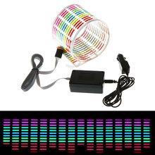 Car Sticker Music Rhythm LED Flash Light Lamp Sound Activated Equalizer Car Atmosphere Led Light(China)