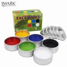 IMAGIC Face Paint Palette Body Painting Flash Tattoo 6 Colors Halloween Makeup Temporary Tatoos Glowing Painting Make Up Tools