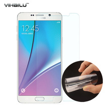 Yihailu For Samsung Galaxy Note 5 Note 4 Note 3 Nano Explosion Soft PET Screen Protector Film TPU Film Not Tempered Glass