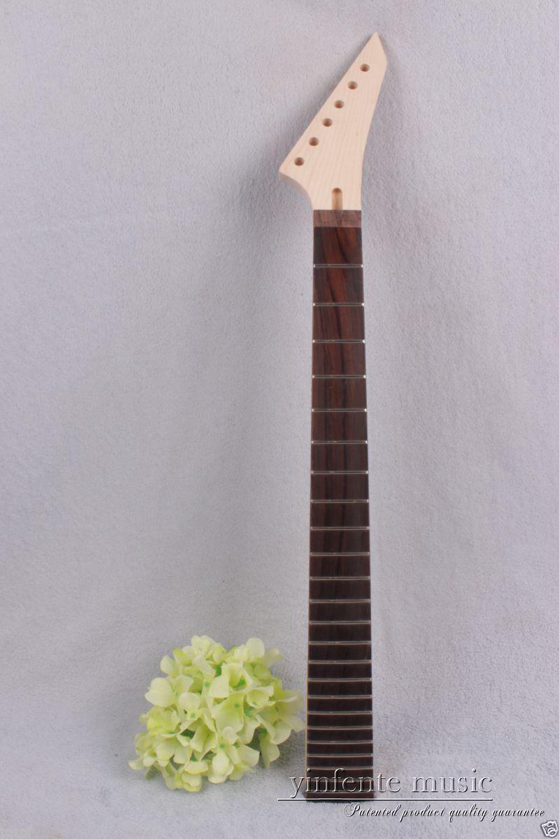 New 1pcs electric guitar neck maple 24 fret 25.5 Unfinished Truss Rod #750<br>